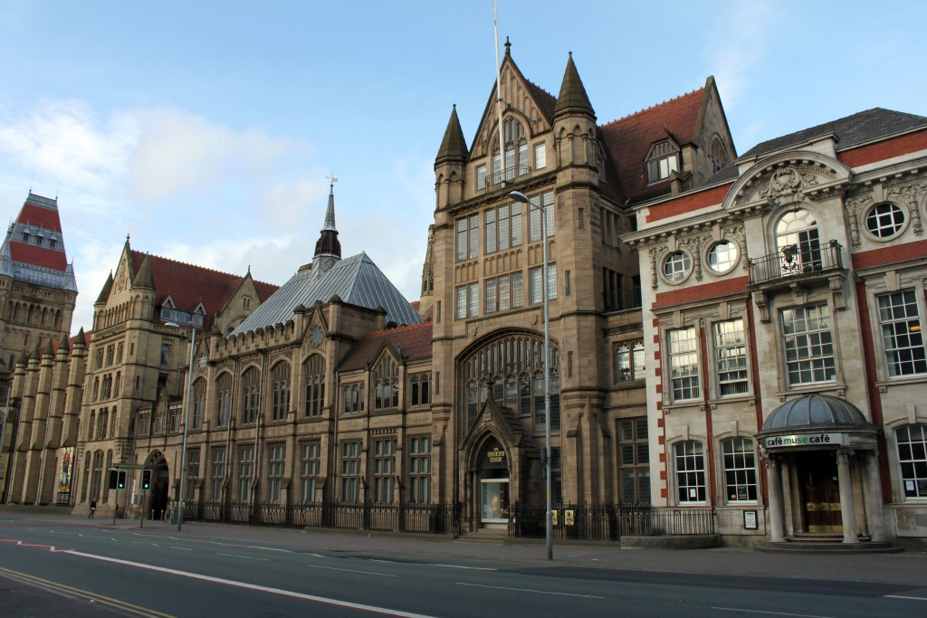 Modern entrance to the Manchester Museum