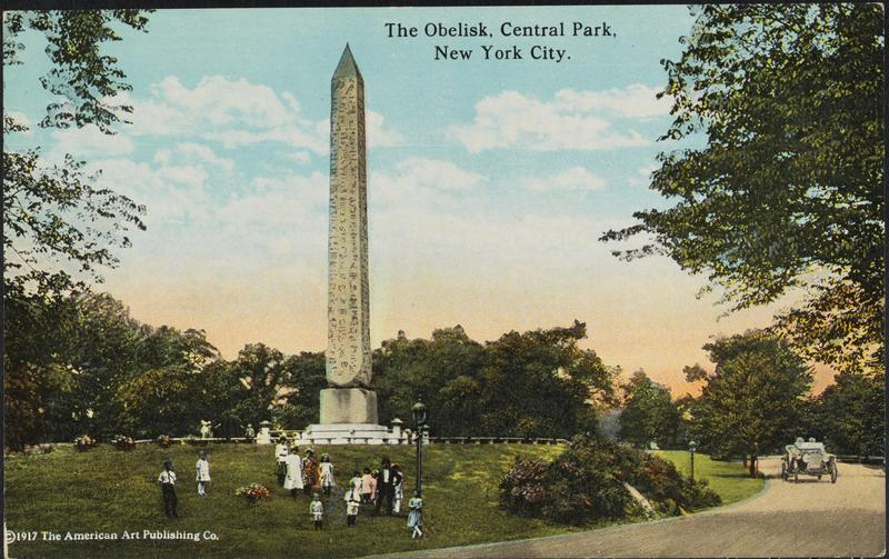 Egyptian Obelisk in New York's Central Park. Installed February 22, 1881