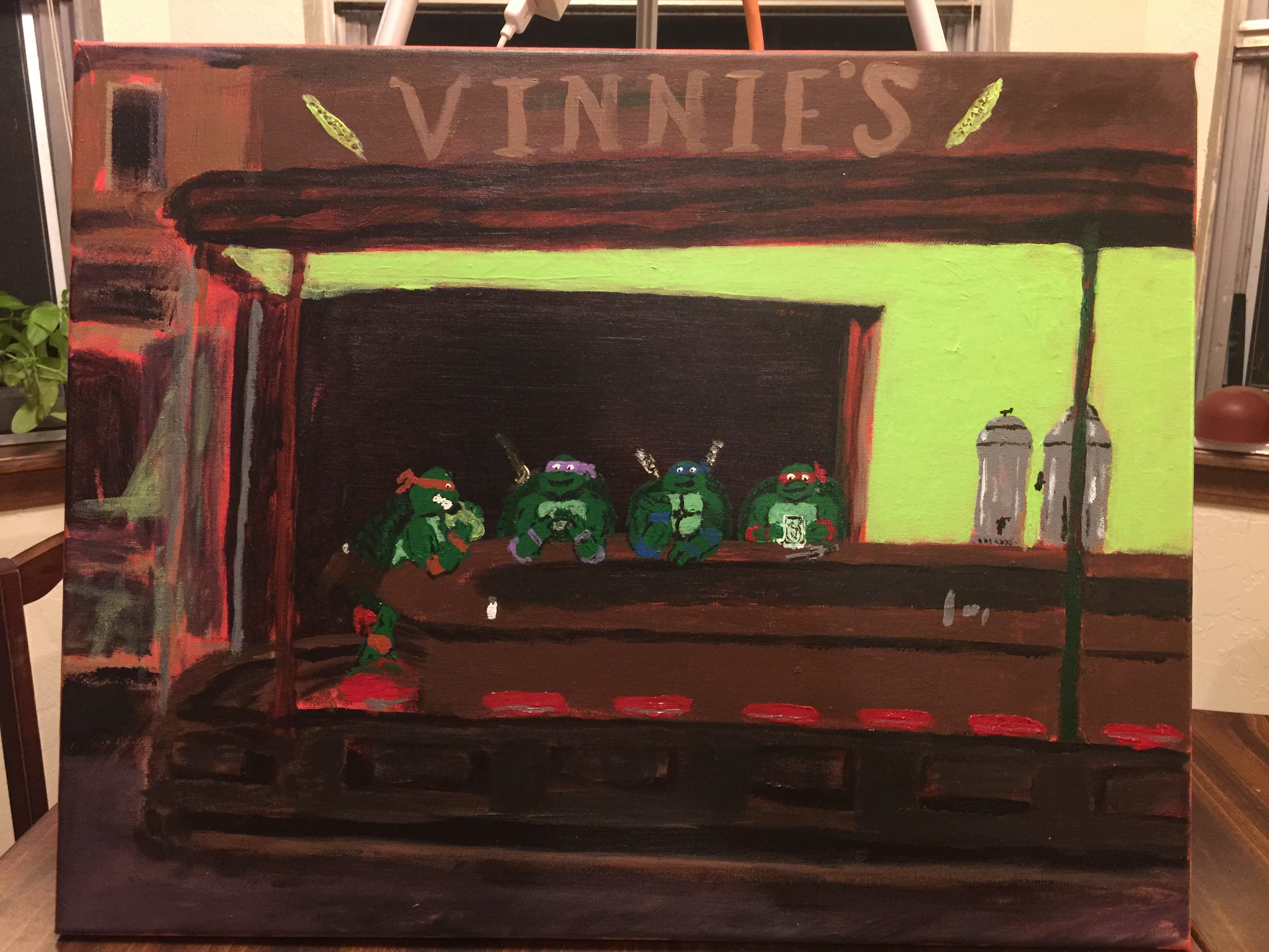 A tribute to Edward Hopper's Nighthawks