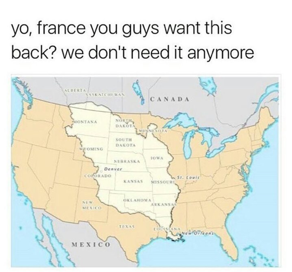 To show just how engrained the purchase is, this meme appeared after the 2016 election with comments asking about France's return policy.
