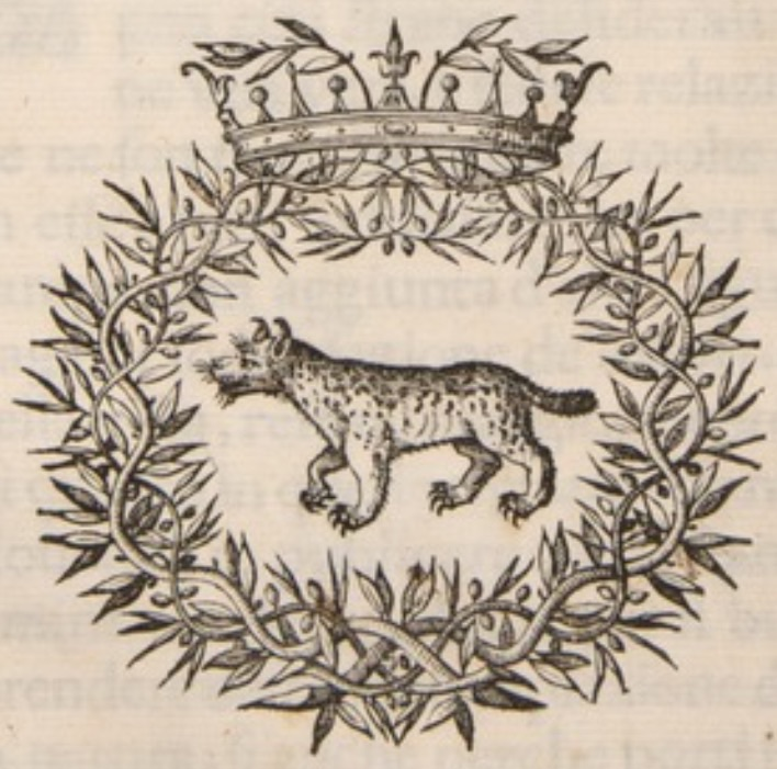 The Society of the Lynx emblem. (From OU History of Science Collections)