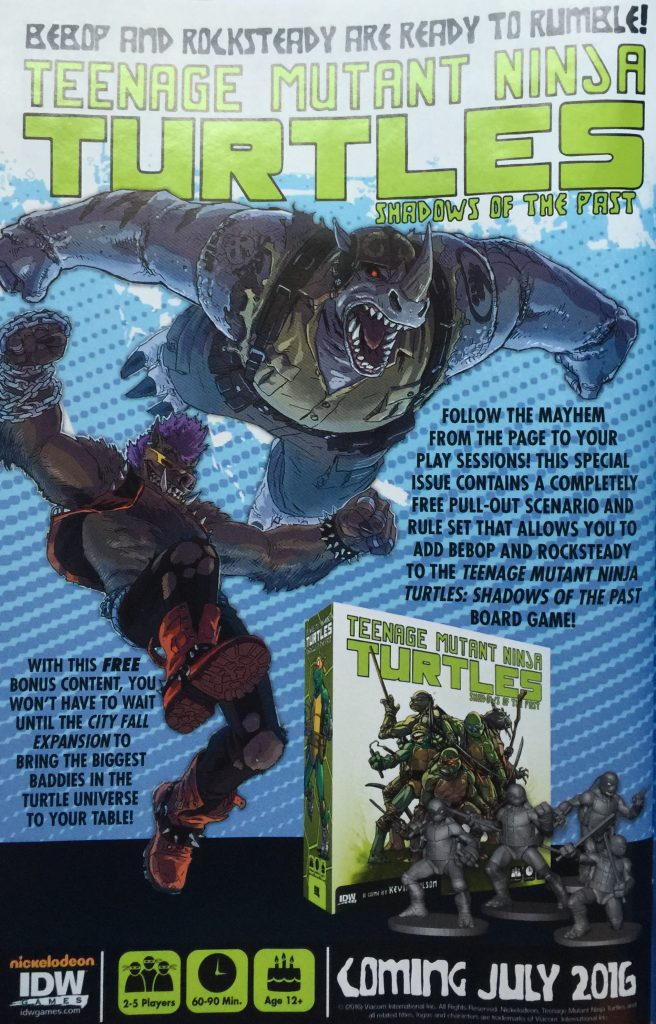 Bebop and Rocksteady Destroy Everything extra scenario ad Issue #5