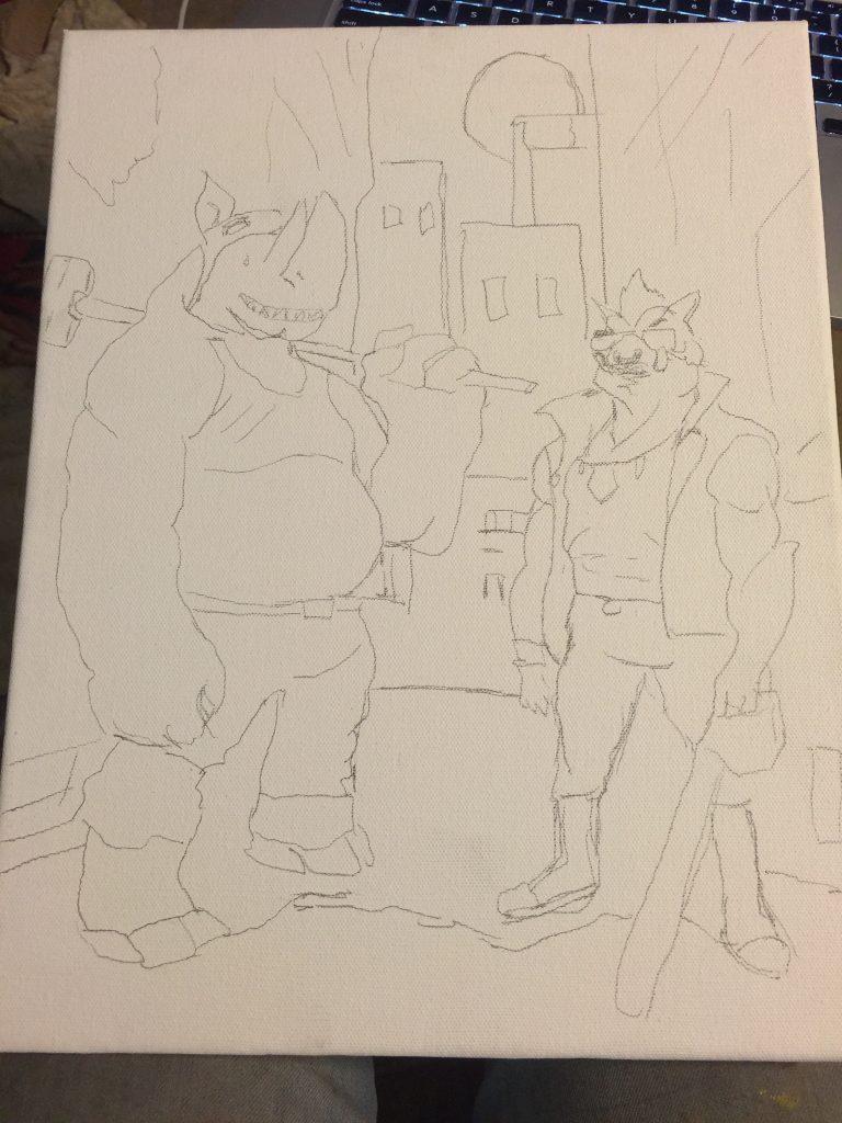 Rough sketch outline