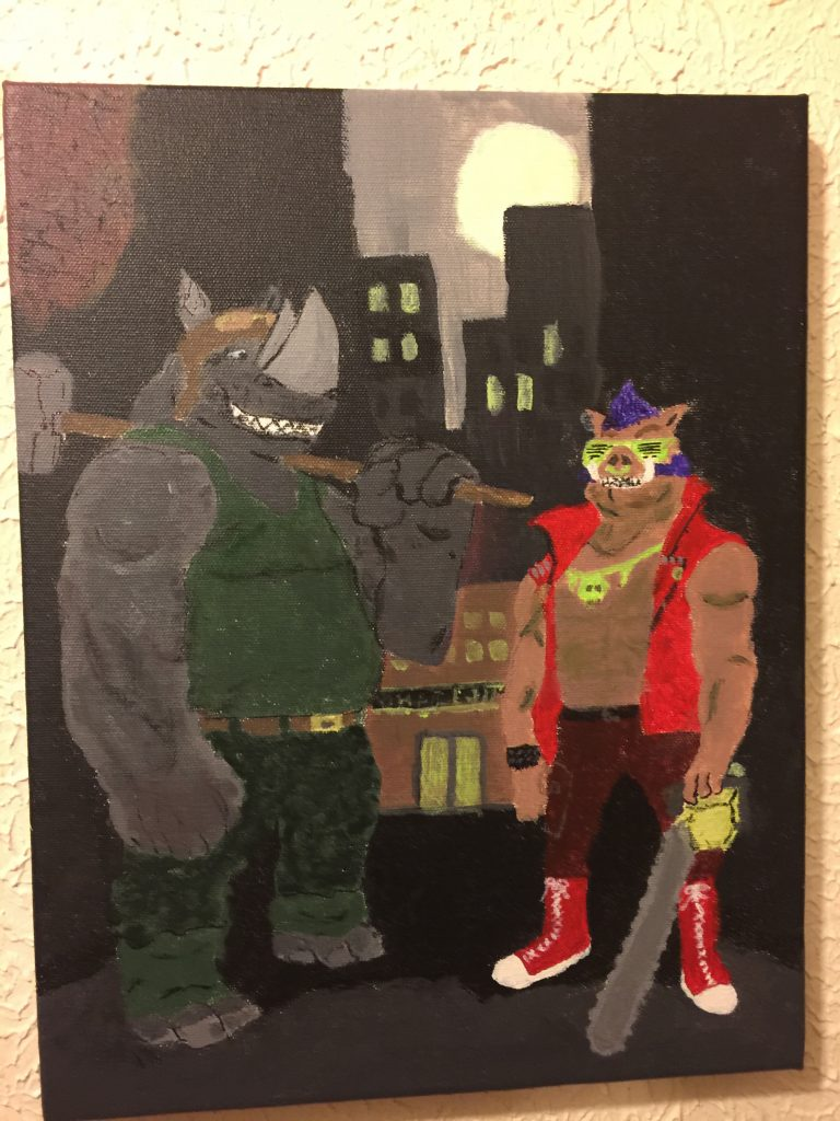 Finished acrylics based on a comics page by Mateus Santolouco. Check out his stuff it is all great